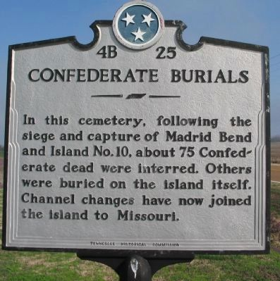 Confederate Burials Marker image. Click for full size.