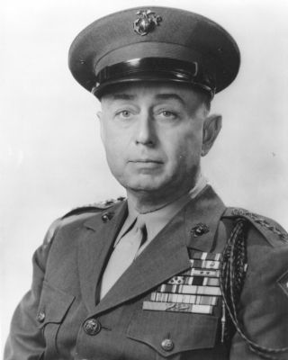 General Clifton B. Cates image. Click for more information.