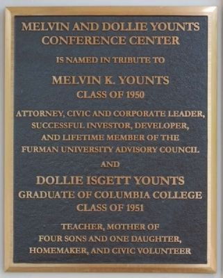 Melvin and Dollie Younts Conference Center Marker image. Click for full size.