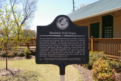 Hoschton Train Depot Marker image. Click for full size.