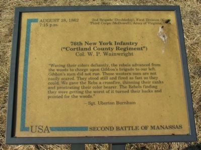 76th New York Infantry Marker image. Click for full size.