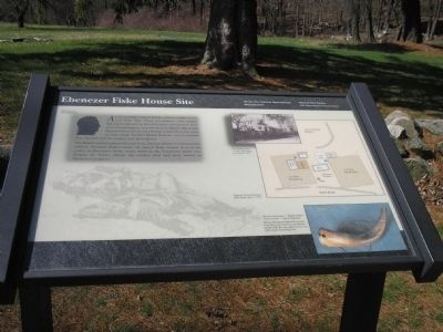Ebenezer Fiske House Site Marker image. Click for full size.