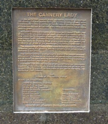 The Cannery Lady Marker image. Click for full size.