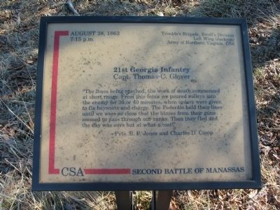 21st Georgia Infantry Marker image. Click for full size.