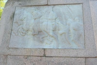 Union Soldiers and Sailors Monument, north face bas-relief, image. Click for full size.