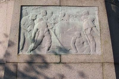 Union Soldiers and Sailors Monument, south face bas-relief image. Click for full size.