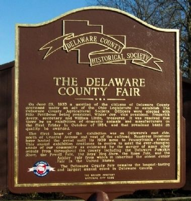 The Delaware County Fair Marker (Side A) image. Click for full size.