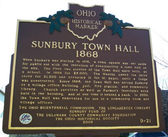 Sunbury Town Hall Marker (Side B)