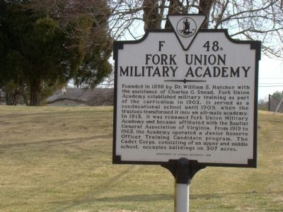 Fork Union Military Academy Marker image. Click for full size.