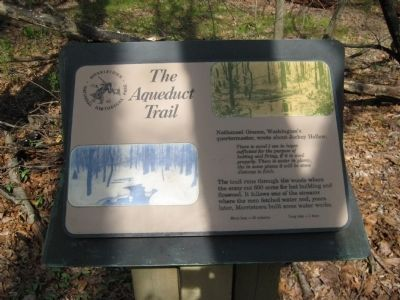 The Aqueduct Trail Marker image. Click for full size.