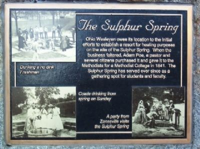 The Sulphur Spring Marker image. Click for full size.