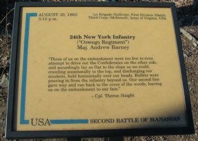 24th New York Infantry Marker image. Click for full size.