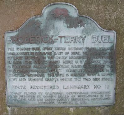 Broderick – Terry Duel Marker image. Click for full size.