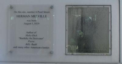 Birthplace of Herman Melville Marker image. Click for full size.