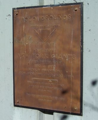 Polo Grounds Marker image. Click for full size.