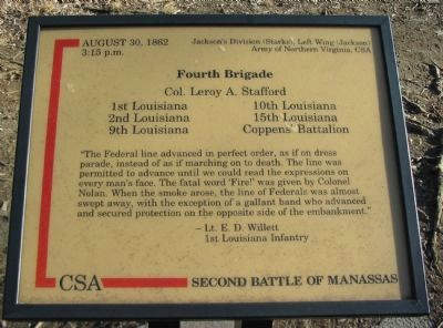 Fourth Brigade Marker image. Click for full size.
