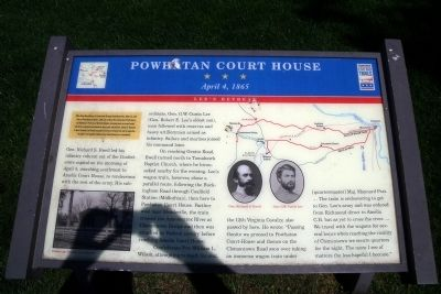 Powhatan Court House CWT Marker image. Click for full size.