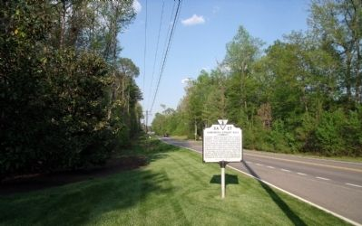 Dahlgren's Cavalry Raid Marker on River Road (facing east) image. Click for full size.