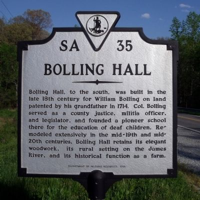 Bolling Hall Marker image. Click for full size.