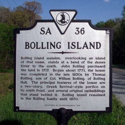Bolling Island Marker image. Click for full size.