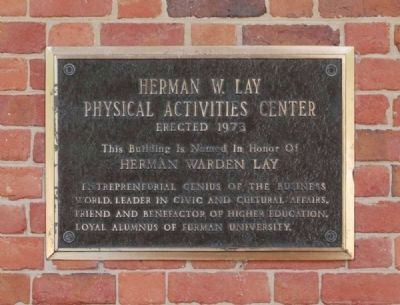 Herman W. Lay Physical Activities Center Marker image. Click for full size.