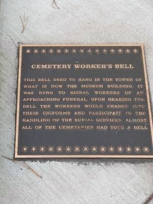 Cemetery Worker's Bell Plaque image. Click for full size.