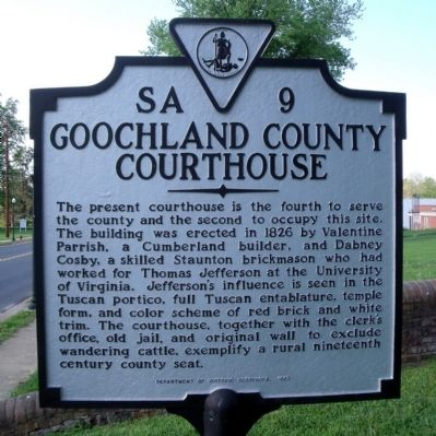 Goochland County Courthouse Marker image. Click for full size.