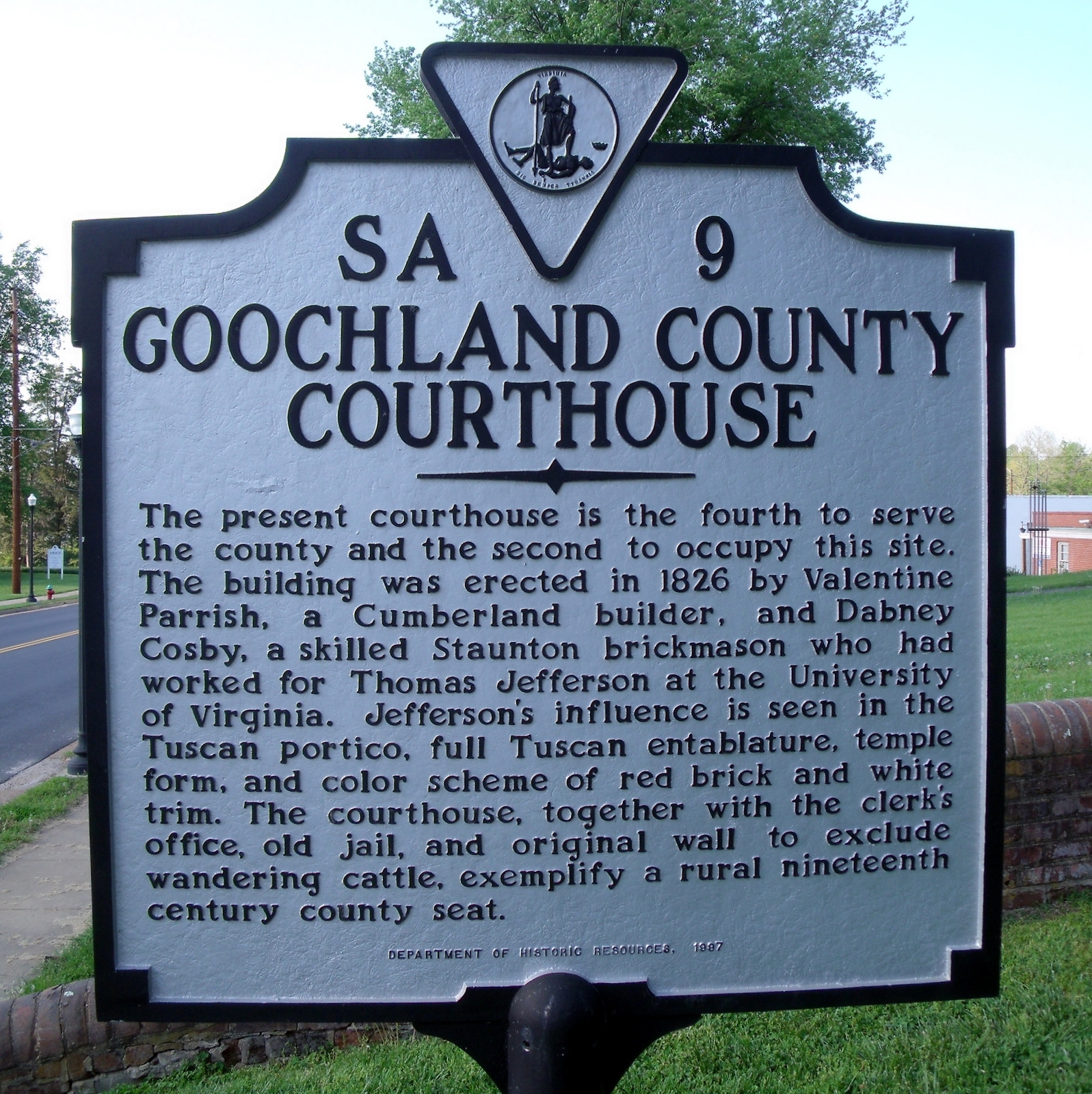 Goochland County Courthouse Marker