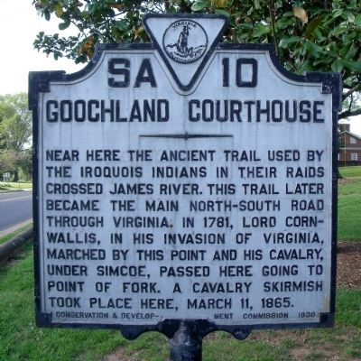 Goochland Courthouse Marker image. Click for full size.