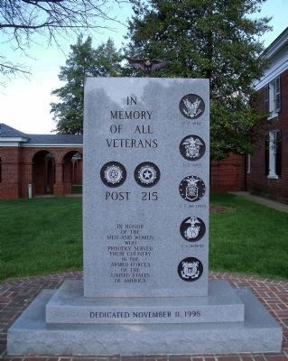 American Legion Memorial (front). image. Click for full size.