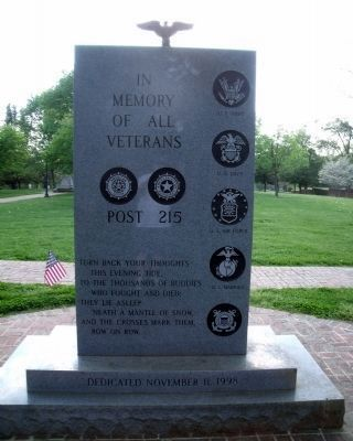 American Legion Memorial (back). image. Click for full size.