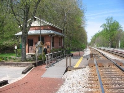 Train Station and East Bound Track image. Click for full size.
