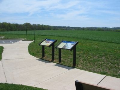 Civil War Trails Markers at Monocacy image. Click for full size.
