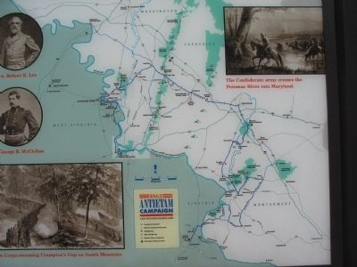 Antietam Campaign Civil War Trails Map image. Click for full size.