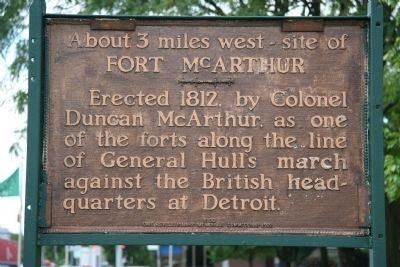 Fort McArthur Marker image. Click for full size.
