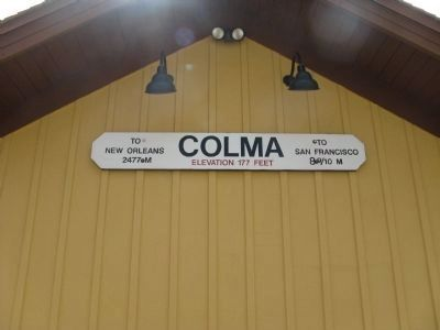 Old Colma Railroad Station image. Click for full size.
