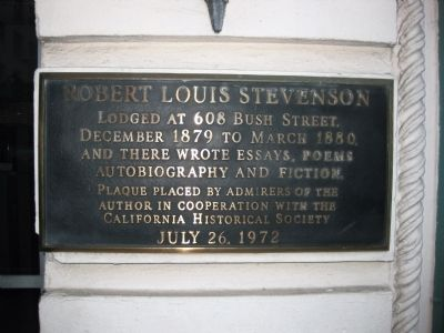 Robert Louis Stevenson Marker image. Click for full size.