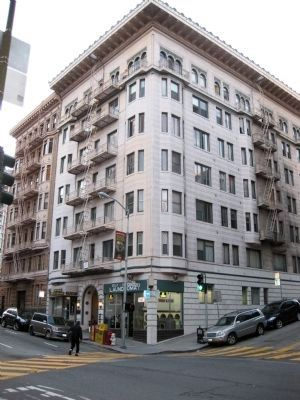 608 Bush Street - Site of Robert Louis Stevenson's 4 Month Stay in San Francisco image. Click for full size.