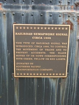 Railroad Semaphore Signal Marker image. Click for full size.