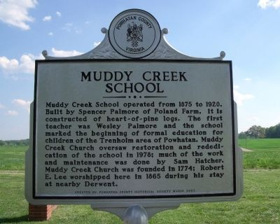 Muddy Creek School Marker image. Click for full size.