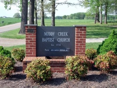 Muddy Creek Baptist Church image. Click for full size.