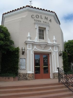 Colma City Hall image. Click for full size.