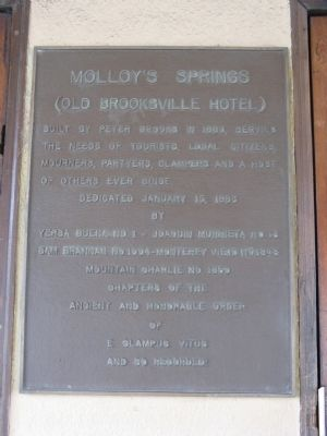 Molloy's Springs Marker image. Click for full size.