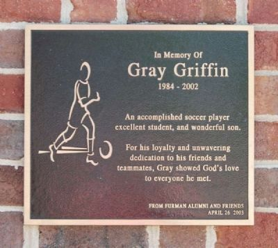 Gray Griffin Plaque (1984-2002)<br>Located Inside the Entrance image. Click for full size.
