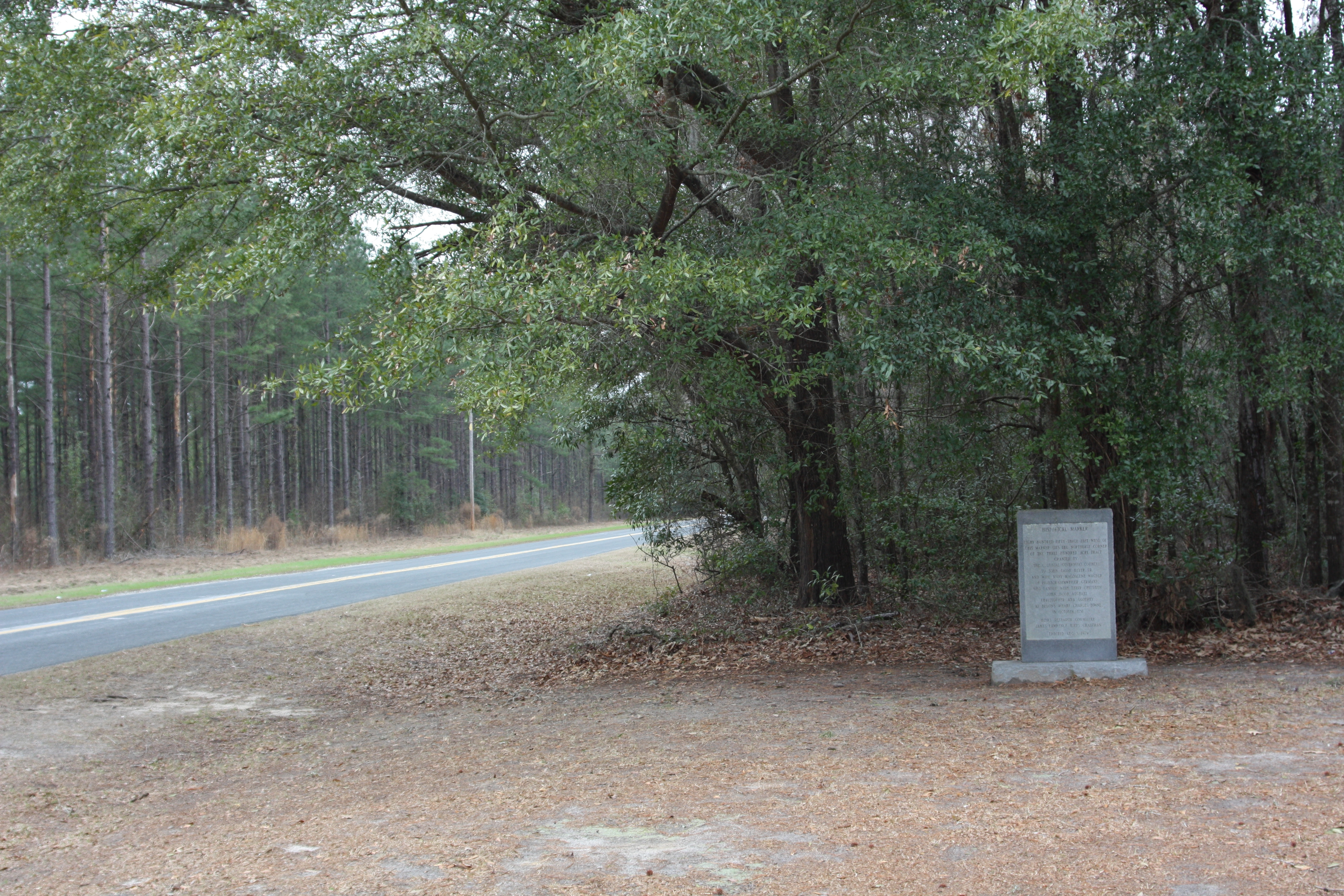 John Jacob Heyer Marker, seen along Confederate Hwy (SC 641), looking west