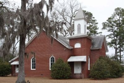 Wesley Chapel United Methodist Church adjacent to the John Jacob Heyer Marker image. Click for full size.