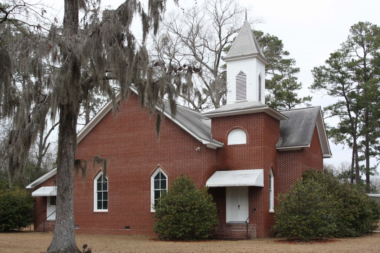 Wesley Chapel United Methodist Church adjacent to the John Jacob Heyer Marker