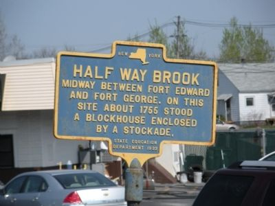 Half Way Brook Marker image. Click for full size.