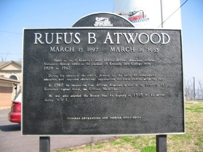 Rufus B. Atwood Marker image. Click for full size.