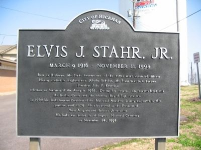 Elvis J. Stahr, Jr. Marker image. Click for full size.